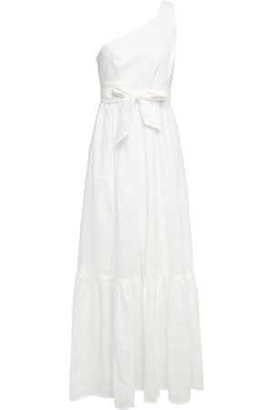 ZIMMERMANN Women Strapless Dresses - Woman Juliette One-shoulder Bow-detailed Linen Maxi Dress Off- Size 0