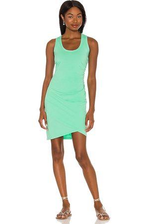 Bobi Supreme Jersey Mini Dress in Green.