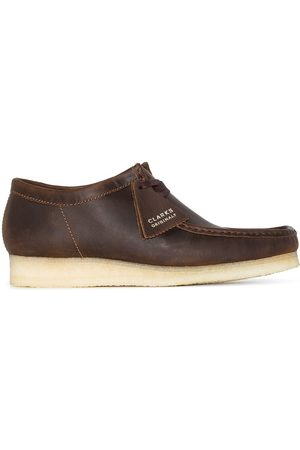 Clarks Originals Men Lace-up Boots - Wallabee leather lace-up boots
