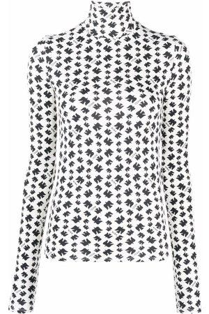 Nina Ricci Women High Necks - Geometric-print high neck top