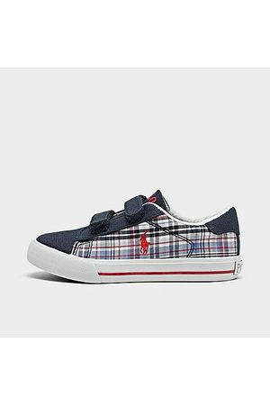 Polo Ralph Lauren Casual Shoes - Boys' Toddler Easton II Plaid Hook-and-Loop Casual Shoes Size 10.0 Canvas