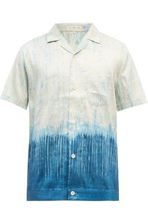 Smr Days Paraiso Degrade-print Slubbed Silk-poplin Shirt - Mens