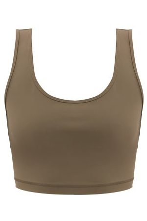 WARDROBE.NYC Scoop-neck Stretch-jersey Cropped Top - Womens - Dark