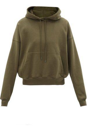 WARDROBE.NYC Release 03 Cotton-jersey Hooded Sweatshirt - Womens - Dark