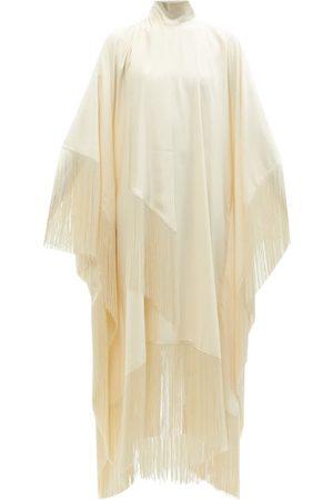 Taller Marmo Women Tunic Dresses - Mrs Ross High-neck Fringed Crepe Kaftan Dress - Womens - Ivory