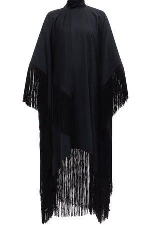 Taller Marmo Mrs Ross High-neck Fringed Crepe Kaftan Dress - Womens