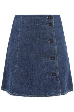 A.P.C. Women Mini Skirts - Mauricette Denim Mini Skirt - Womens - Mid Denim