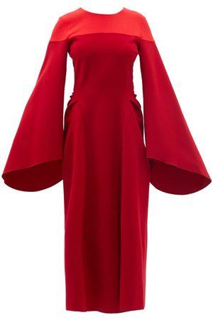 Roksanda Accadia Wool-blend Crepe Midi Dress - Womens - Multi