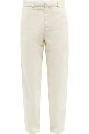 Another Aspect Garment-dyed Cotton-twill Chino Trousers - Mens
