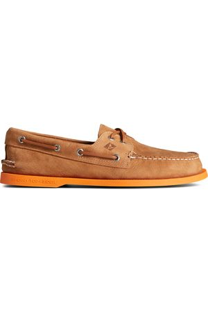Sperry Top-Sider Men Loafers - Men's Sperry Authentic Original 2-Eye Color Sole Boat Shoe Tan/ , Size 7.5M