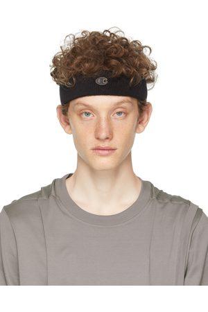 Rick Owens Black Champion Edition Terrycloth Headband