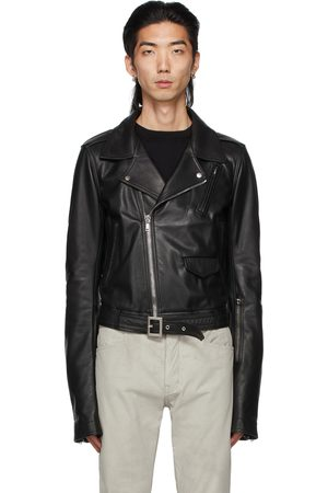 Rick Owens Black Leather Lukes Stooges Jacket