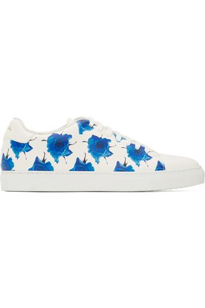 Paul Smith SSENSE Exclusive Off-White & Blue Basso Sneakers
