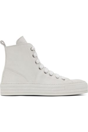 ANN DEMEULEMEESTER Off- Suede High-Top Sneakers