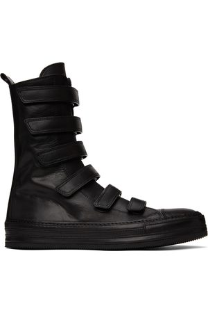 ANN DEMEULEMEESTER Leather Velcro High-Top Sneakers