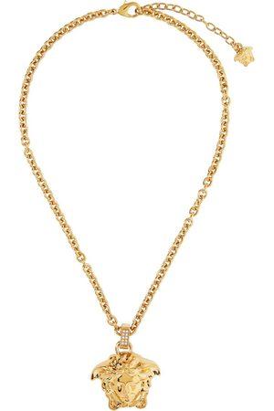 VERSACE Gold Thin 'La Medusa' Pendant Necklace