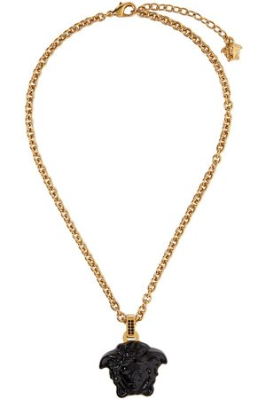VERSACE Black 'La Medusa' Pendant Necklace