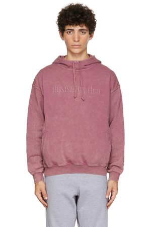 This Is Never That Pink Washed Embroidery Hoodie