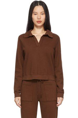 LACAUSA Brown Blaze Polo Sweatshirt
