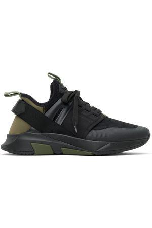 Tom Ford Black & Khaki Jago Sneakers