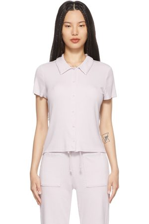LACAUSA Purple Micro Modal Baby Polo T-Shirt