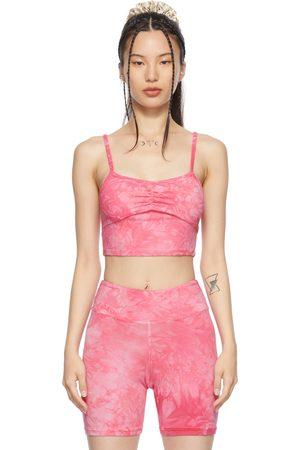 LACAUSA Pink Tie-Dye Bandha Top