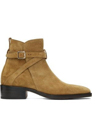 TOM FORD Tan Suede Rochester Boots
