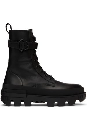 Moncler Black Carinne Lace-Up Boots