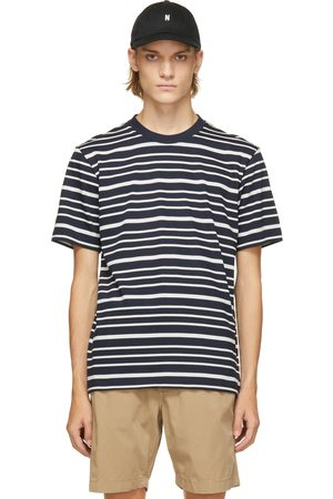 Norse projects Navy & White Mariner Stripe Johannes T-Shirt