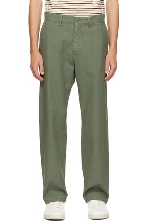Norse projects Green Geoff McFetridge Edition Back Satin Lucas Trousers