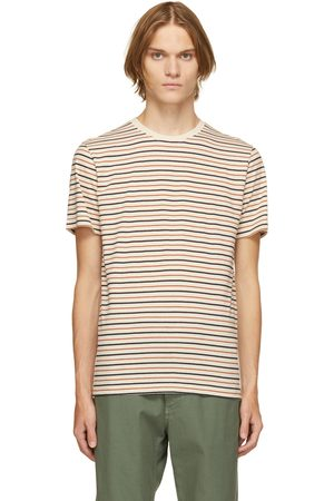 Norse projects Off-White Cotton & Linen Stripe Niels T-Shirt