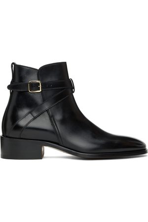 Tom Ford Black Leather Rochester Boots