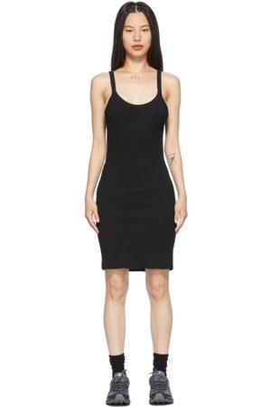 LACAUSA Black Maya Slip Dress