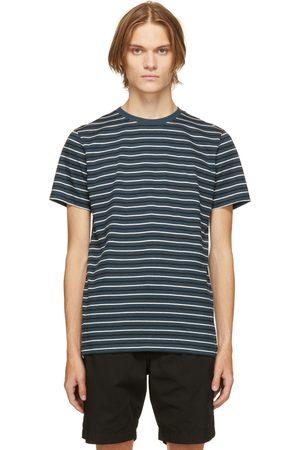 Norse projects Blue Cotton & Linen Stripe Niels T-Shirt