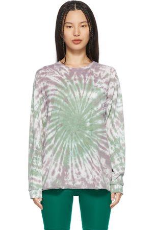 LACAUSA Green & Purple Tie-Dye Long Sleeve T-Shirt