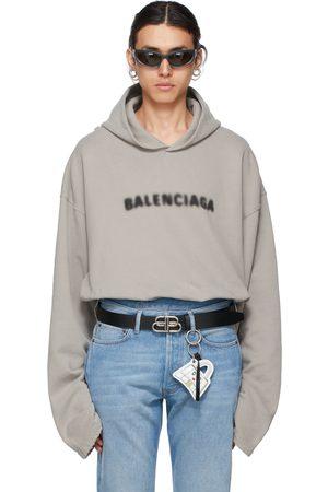 Balenciaga Grey Blurry Logo Hoodie