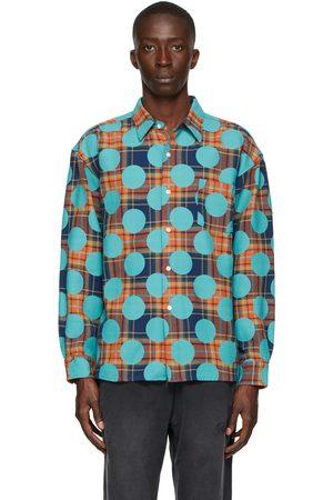 AWAKE NY Orange Flannel Polka Dot Shirt