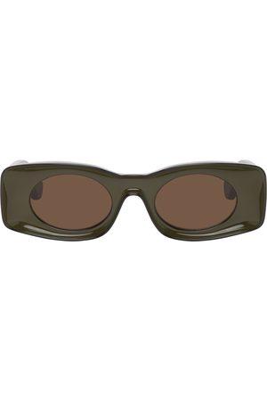 Loewe Black & Khaki Paula's Ibiza Square Sunglasses