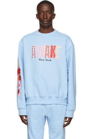 AWAKE NY SSENSE Exclusive Blue Bloom Logo Sweatshirt