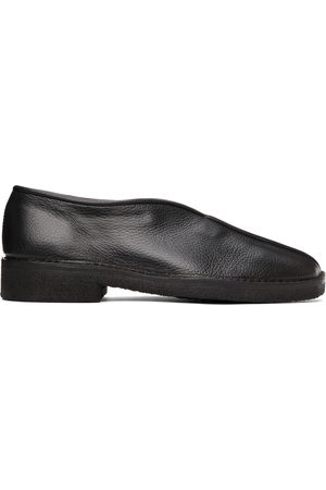 LEMAIRE Black Square Toe Loafers