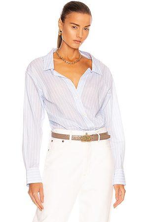 JONATHAN SIMKHAI Olivia Oxford Shirt Bodysuit in