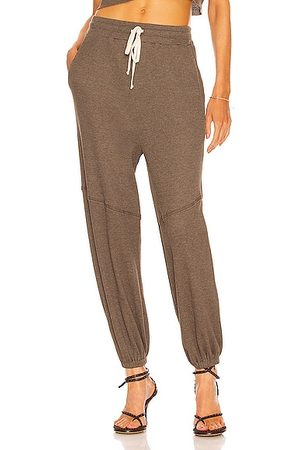 TWENTY MONTREAL Women Sweatpants - Everest Thermal Baggy Pant in Olive