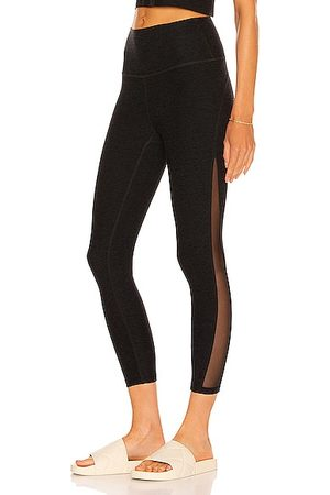 Beyond Yoga Women Leggings - Mesh Curve High Waisted Midi Legging in Black