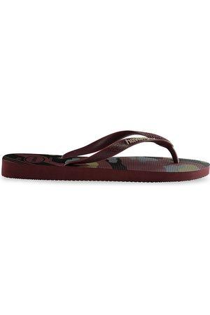 Havaianas Men's Top Camo Flip Flops - Grape Wine - Size 11
