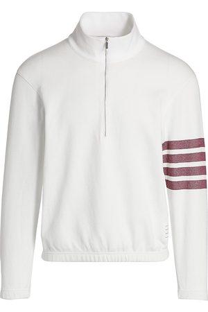 Thom Browne Men's Half Zip Pullover Sweater - - Size Medium