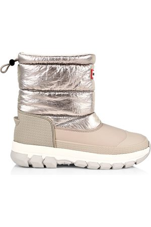 Hunter Metallic Insulated Short Snow Boots