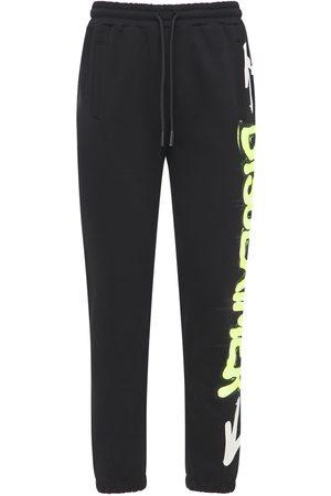 DISCLAIMER Neon Logo Printed Cotton Sweatpants