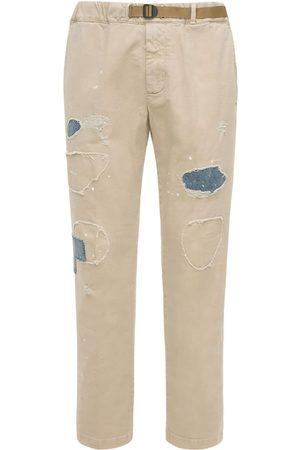 Whitesand 88 Men Pants - Belted Cotton Pants W/patches & Stitches