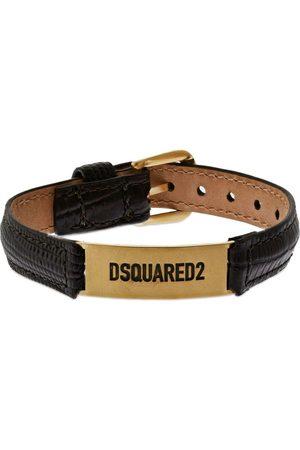 Dsquared2 Logo Leather Belt Bracelet