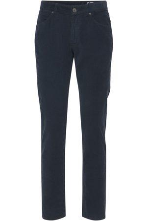 Pantaloni Torino Men Stretch Pants - Striped Cotton Stretch Corduroy Pants